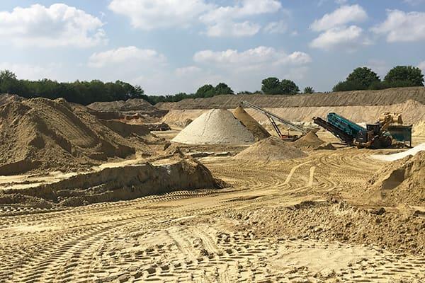 aufladen von sand zur lieferung